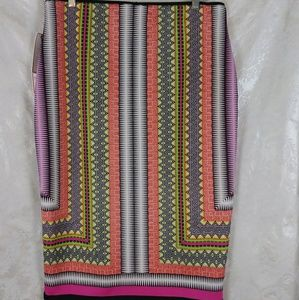 Bisou Bisou Skirts - Bisou Bisou Scarf Print Pencil Skirt